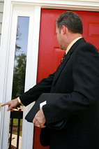 doorstep caller